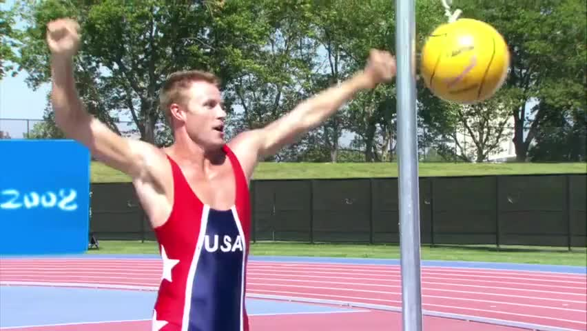 Lance Speedman is the Olympic Tetherball Champion...