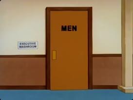 [Toilet flushing]