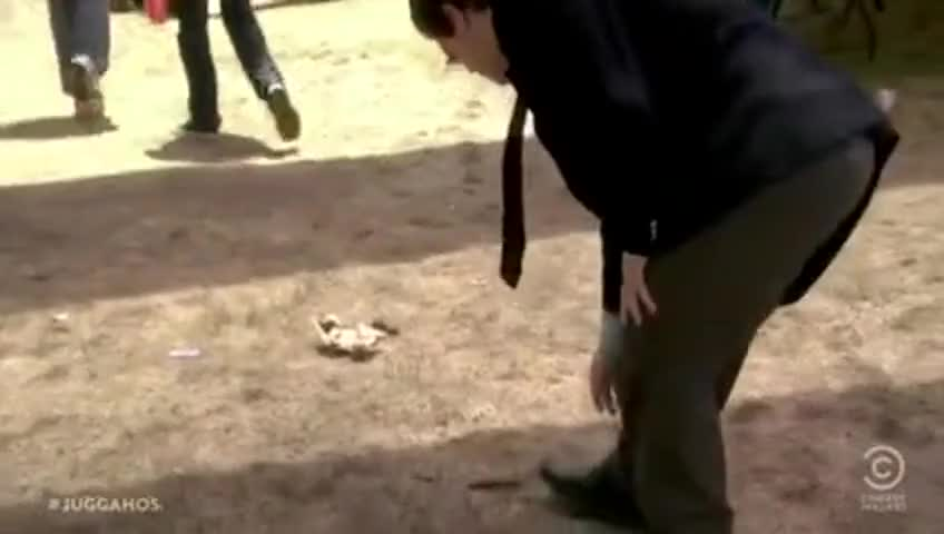 Human poop fell out of your pants.