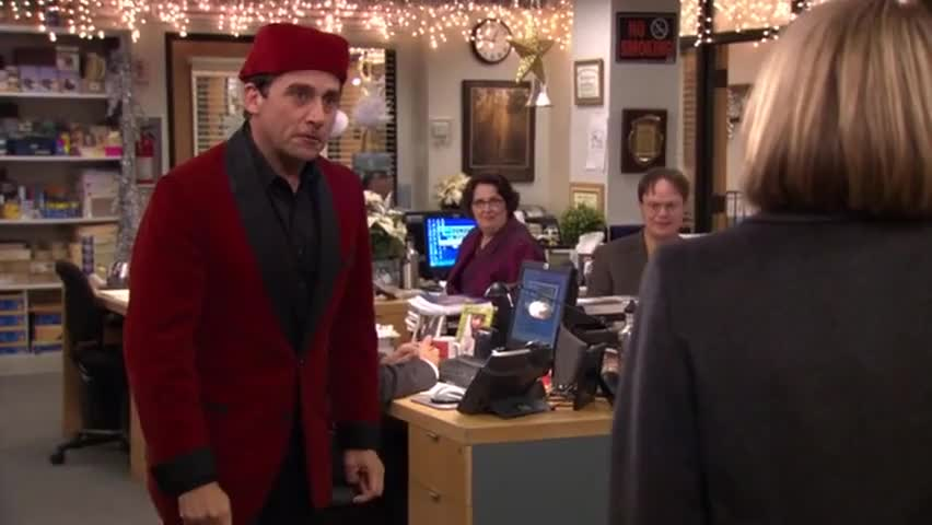 yarn finds the most viewed video clips from the office 2005 s07e11 classy christmas part 1 by social media usage yarn indexes every clip in tv - The Office Classy Christmas