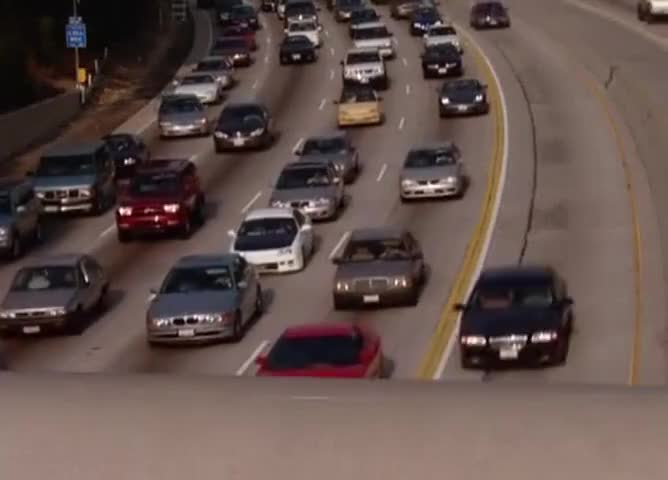 The only thing moving is the carpool lane.