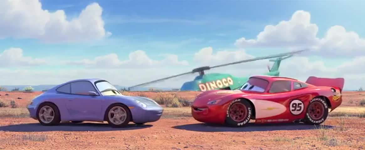 Yarn Mcqueen And Sally Parked Beneath The Tree Cars 2006