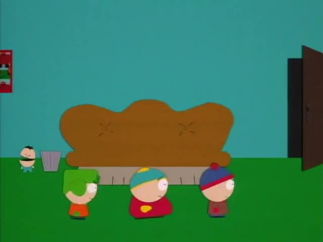 - Come on, I'll roshambo you for it. - Go to hell, Cartman.