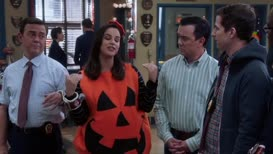 about the pumpkin costume. - That was good.