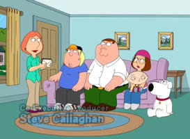 Peter, here's your invite. Chris, Meg, Stewie and me.