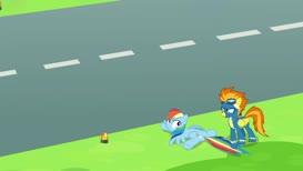 always check both ways before crossing the runway.