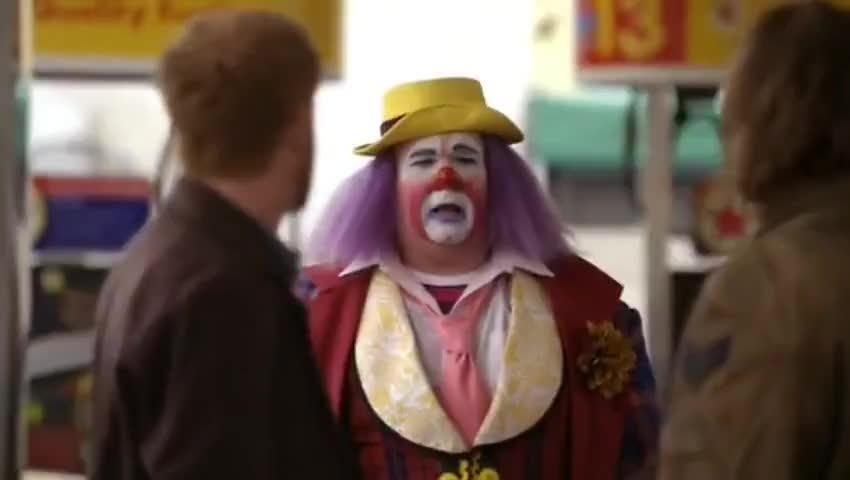 - What the hell are you? - I'm the ass-kicking clown...