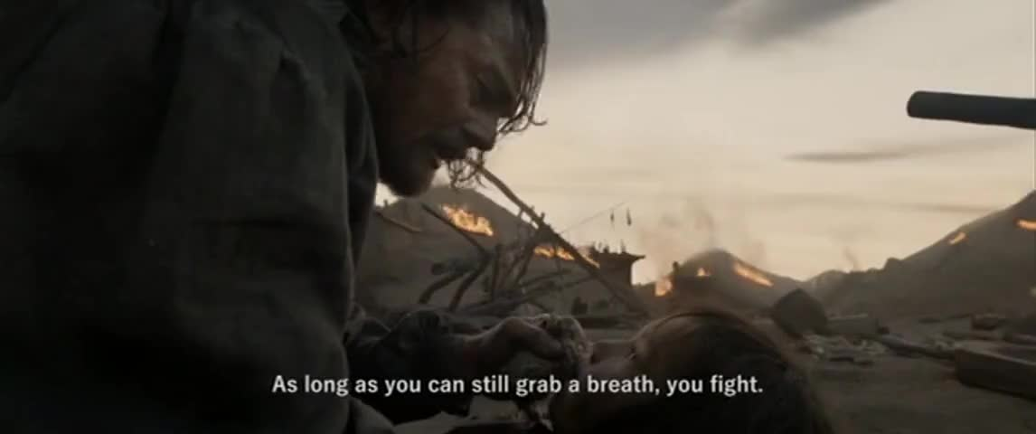 As long as you can still grab a breath, you fight.