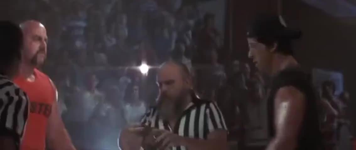 - Put your elbows down. - I'll rip your shittin' arm off, boy.