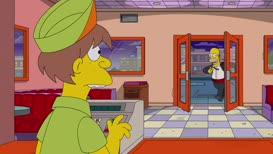 Five Krusty Burgers. No tomato.