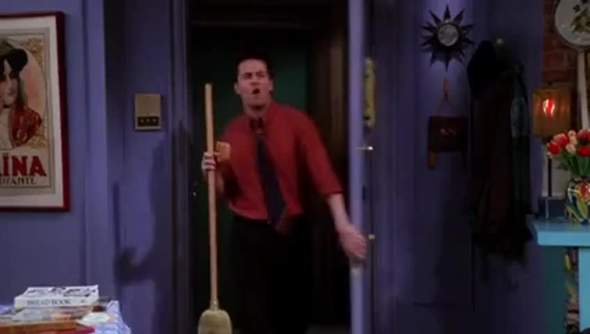 Monica, here's your broom back.