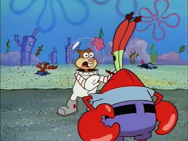 Wait... Mr. Krabs, it's not his fault.
