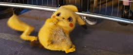 [high-pitched voice] Pika-Pika?