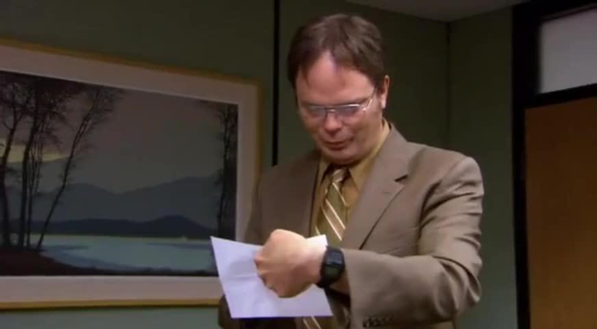 "Yarn | ""Dwight, congratulations, a-wipe."" ~ The Office ..."