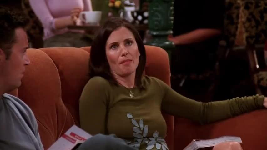 """[IN BRITISH ACCENT] """"Um, Monica, darling, it's Amanda calling."""""""