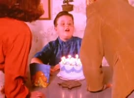 I said blow out the damn candles!