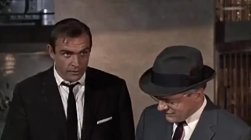 YARN | Oh, he blew a fuse. | James Bond: Goldfinger (1964) | Video clips by  quotes | 966fabb9 | 紗