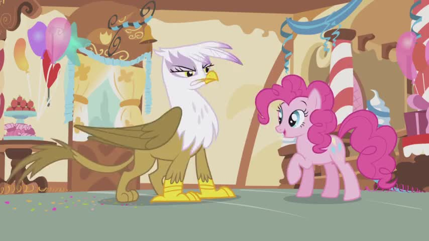 Oh, Pinkie Pie! The old hoofshake buzzer! You are a scream!