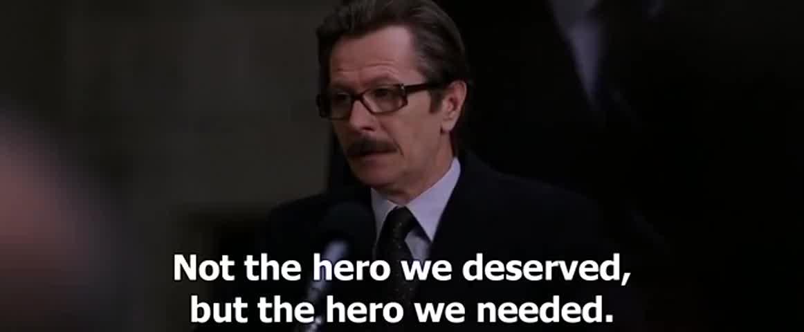 Image result for hero we deserve