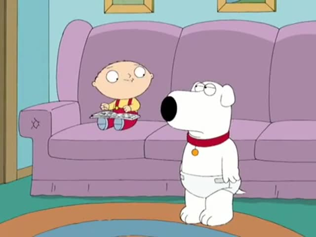 - You look silly. - Why? You wear a diaper.