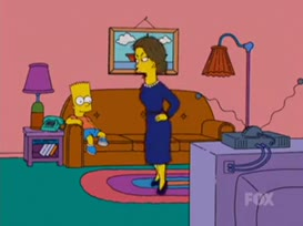 Bart, I told you no television till you do the dishes.