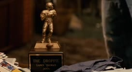 That's the Droppie Award for most fumbles in a season.