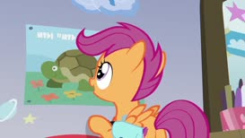 """because they have hard shells."""" That's so Rainbow Dash."""