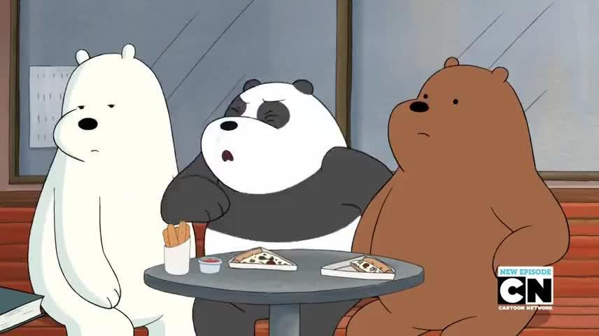 [Laughs] Panda sneeze ... cute!