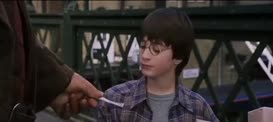 Here's your ticket. Stick to it, Harry that's very important. Stick to your ticket.