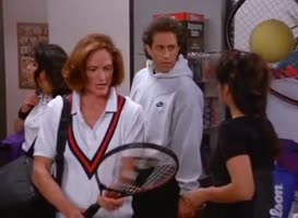 - Newman plays tennis? - He's fantastic.