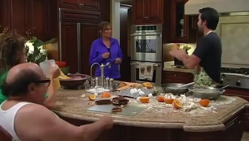 I made you breakfast. I hope you like it crispy 'cause it is burned.