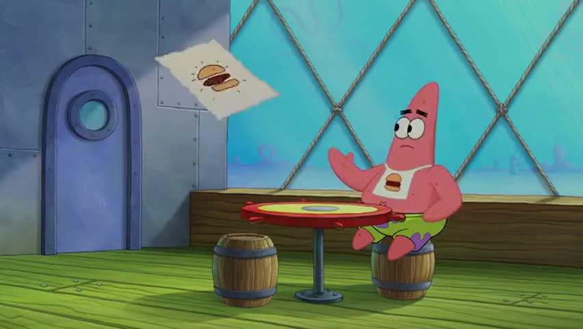 Hey! I ordered a double Krabby Patty!