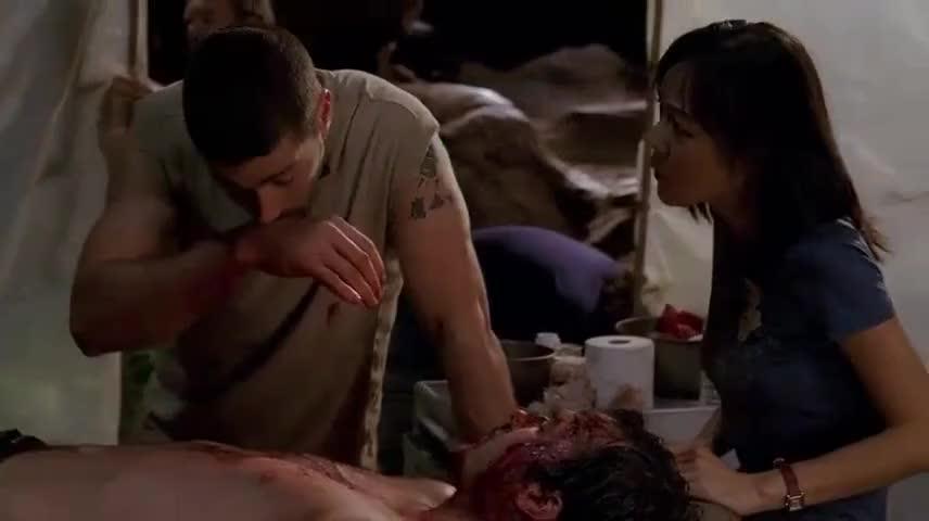 Blood. A transfusion.