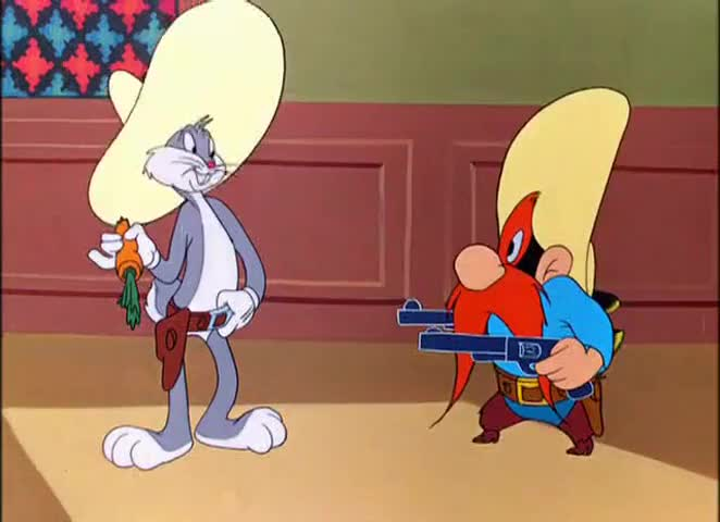 Yarn | Bugs Bunny - Bugs Bunny Rides Again - Duel of the Shooters ...