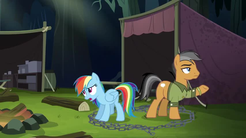 Quick! We've got to get out of here and warn Daring Do!