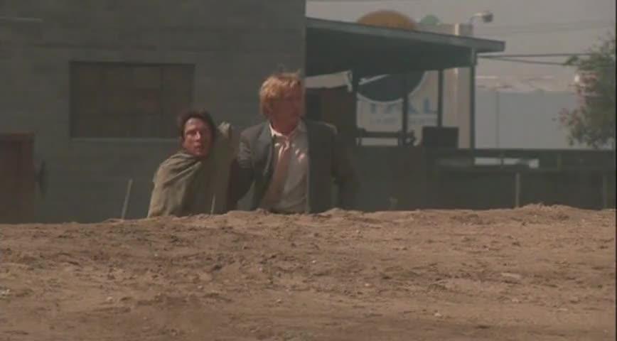 - Christ! - All because I blew a holdup!