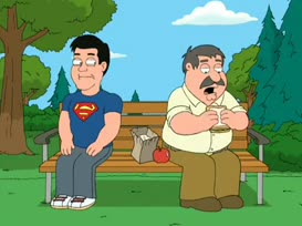 Hey, is that Dean Cain on that park bench?