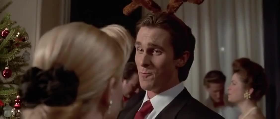 Yarn | Mistletoe alert. ~ American Psycho (2000) | Video clips by quotes,  clip | c5785219-63be-4606-b366-79602f0c0663 | 紗
