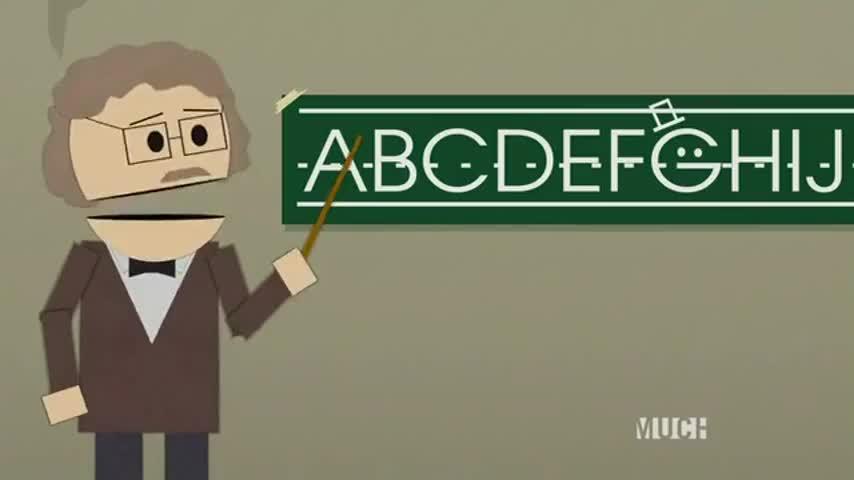 ♪ A, B, C, D ♪