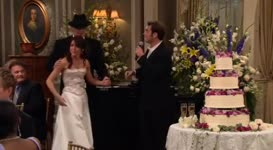 Lily and Marshall are going to cut the cake.