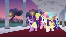 ...she was kind enough to offer us the Canterlot Castle ballroom.