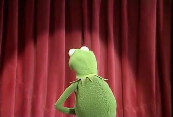 [muppet] Yeah, it's OK, frog.