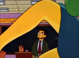 Mrs. Krabappel, you're trying to seduce me.
