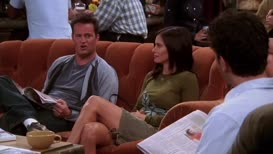 No, no. Stop staring at your sister's legs.