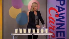 I will now drink eight glasses of milk in three minutes.