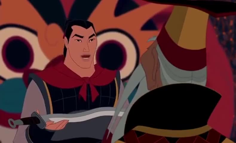 Yarn I Present To You The Sword Of Shan Yu Mulan 1998 Animation Video Clips By Quotes Clip D9baa1dd 9359 4be2 Bda5 13d96edeb0d5 紗