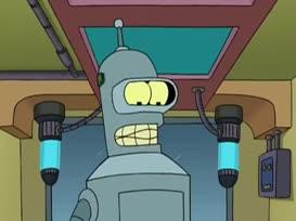 Aha! Bender, one. Toilet, zero.