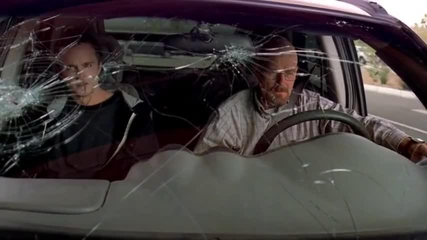 Your windshield's broken.