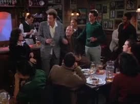 Elaine, try the beef, because that's real au jus sauce. Real au jus sauce.