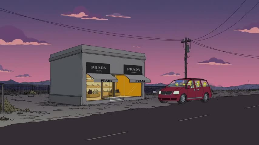 Prada? In the middle of nowhere?